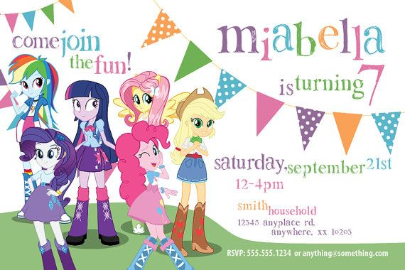 My Little Pony Equestria Girls Theme Birthday By