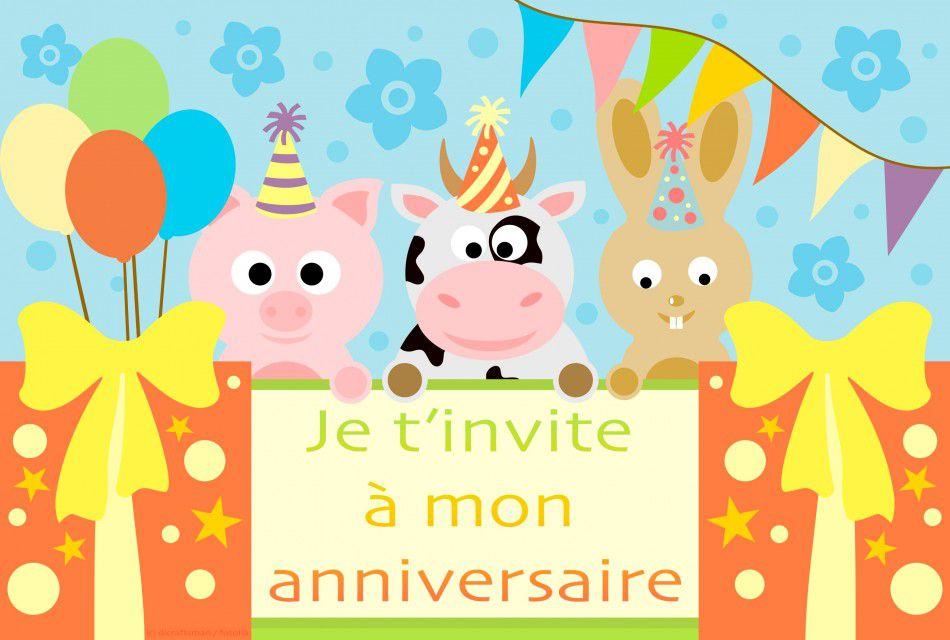 carte invitation anniversaire carte