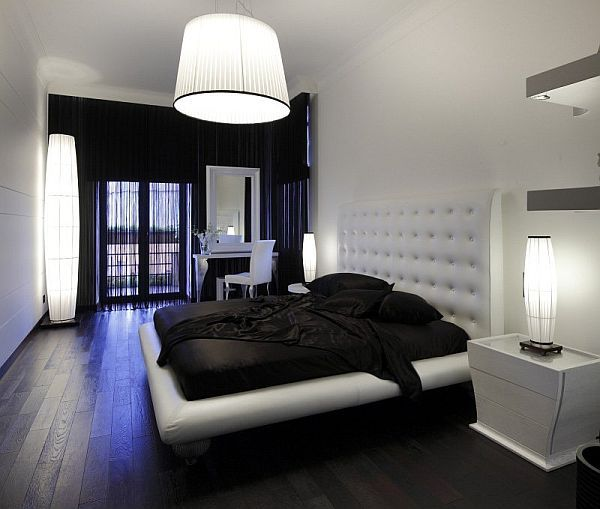 Hardwood floors in bedroom home decorating