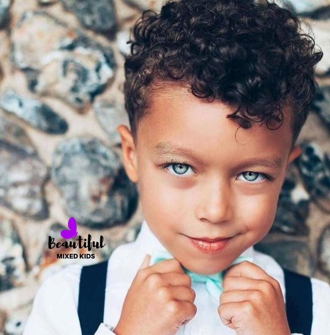 Beautiful Mixed Kids On Instagram Theo 6 Years Mom Portuguese Irish Dad Bajan E Cute Hairstyles For Kids Toddler Boy Haircuts Boys Curly Haircuts
