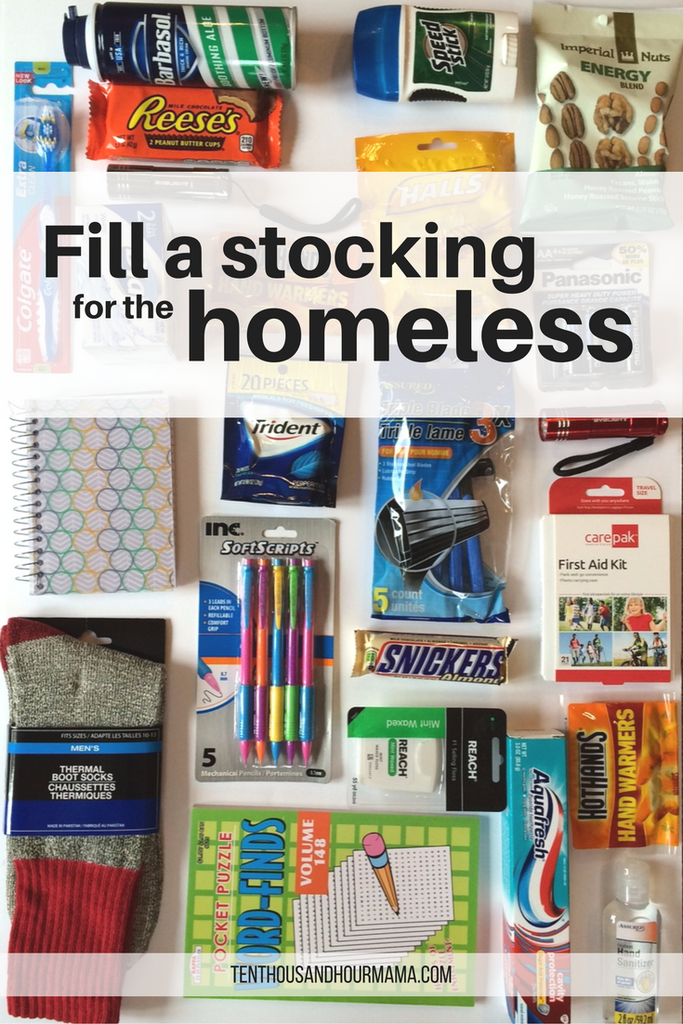 Fill A Stocking For The Homeless Christmas Blessing Bag Kids Giving Back Blessing Bags Homeless Gifts Charity Work Ideas