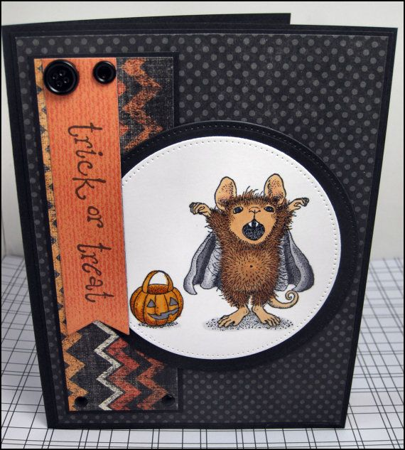 Handmade Halloween Card by MasonJarCards on Etsy, $4.50