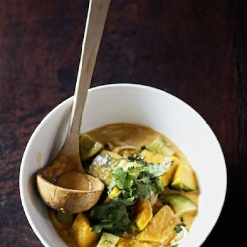 Thai Red Curry with Pumpkin and Green Tomato Recipe in