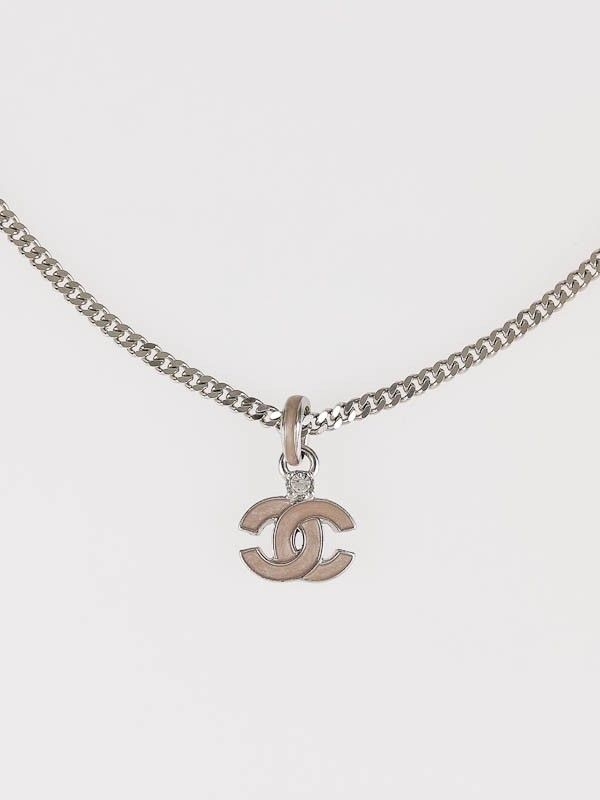 Chanel pink enamel cc logo pendant necklace chanel pinterest chanel pink enamel cc logo pendant necklace aloadofball Image collections