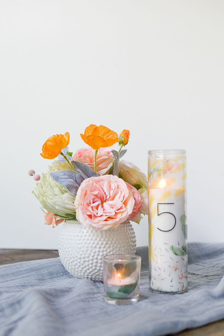 Download this Free Printable Pattern + Dollar Store Candle Hack ...