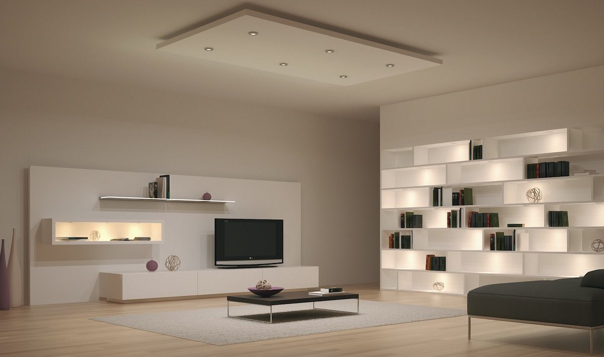 concealed lighting ideas. Modern Open-Space Living Room Design Lighting System Ideas With Cool LED Ceiling Recessed And Wall Shelves Concealed Lights. Creative Eye-Catching Home H