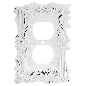 Distressed White Flourishing Metal Outlet Cover Hobby Lobby 1481530 Outlet Covers Distressed White Metal