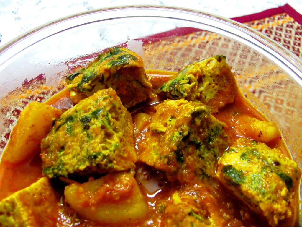 Dimer Dhokar Dalna (Steamed Egg Cake Curry) | Recipes from