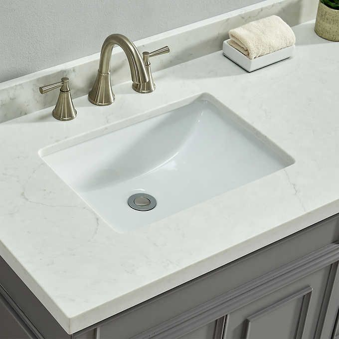 Charleston 72 Gray Double Sink Vanity By Mission Hills