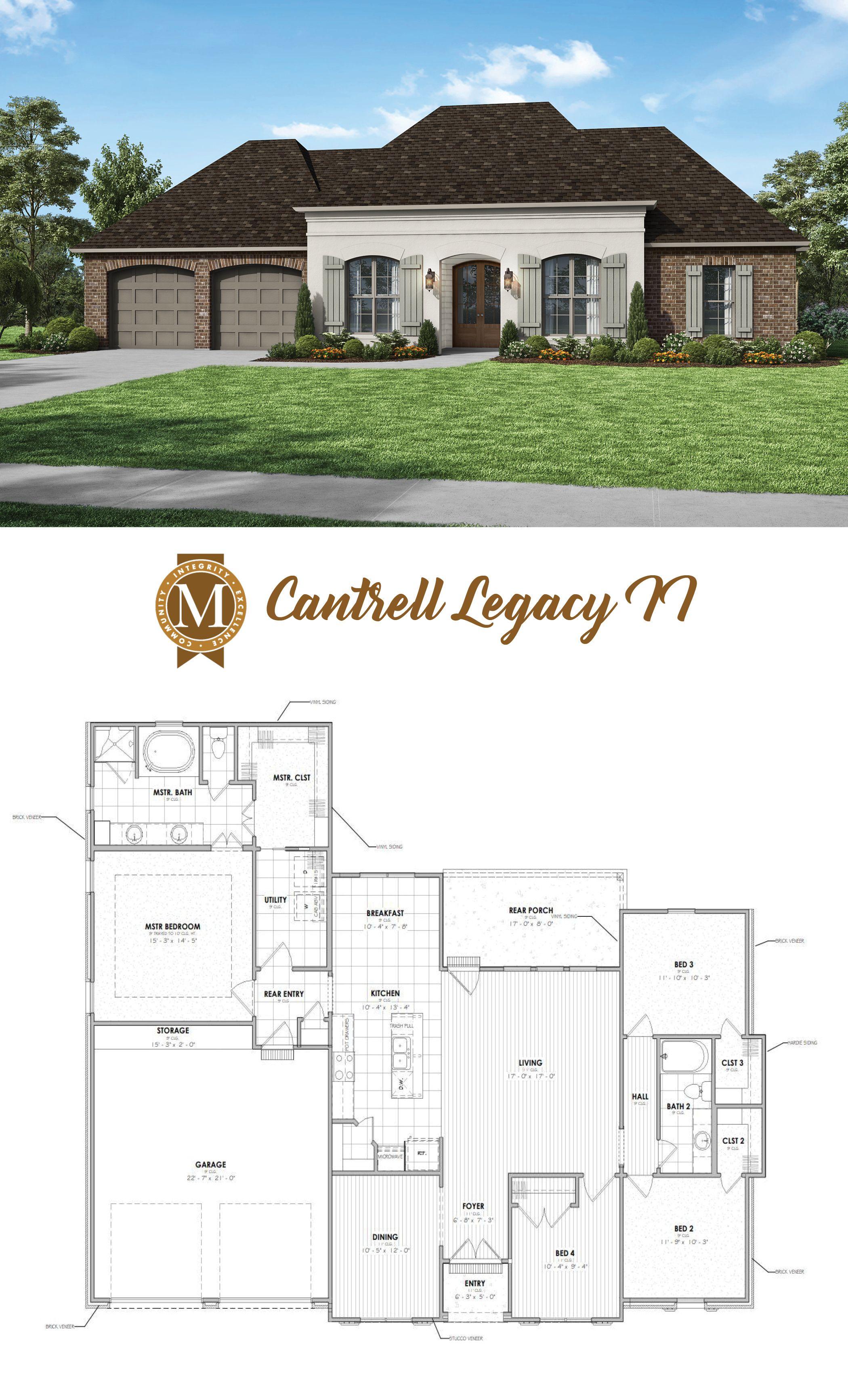 Cantrell Legacy Ii Floor Plan Luxury House Plans New House Plans Architectural House Plans