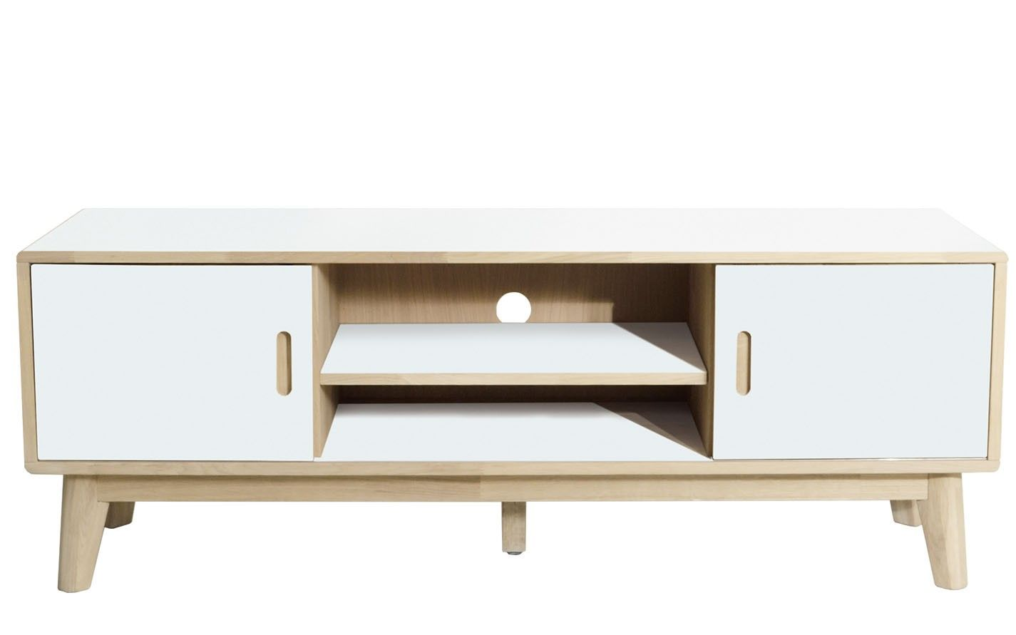 White Tv Media Unit Part - 36: Buy Soho White TV Unit, Sliding Doors
