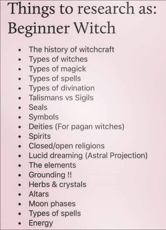 Fledgling Witch/Pagan Tips