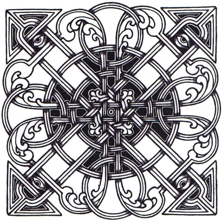 Coloring Page Celtic F C: Celtic Square Knot By Ppunker On DeviantART