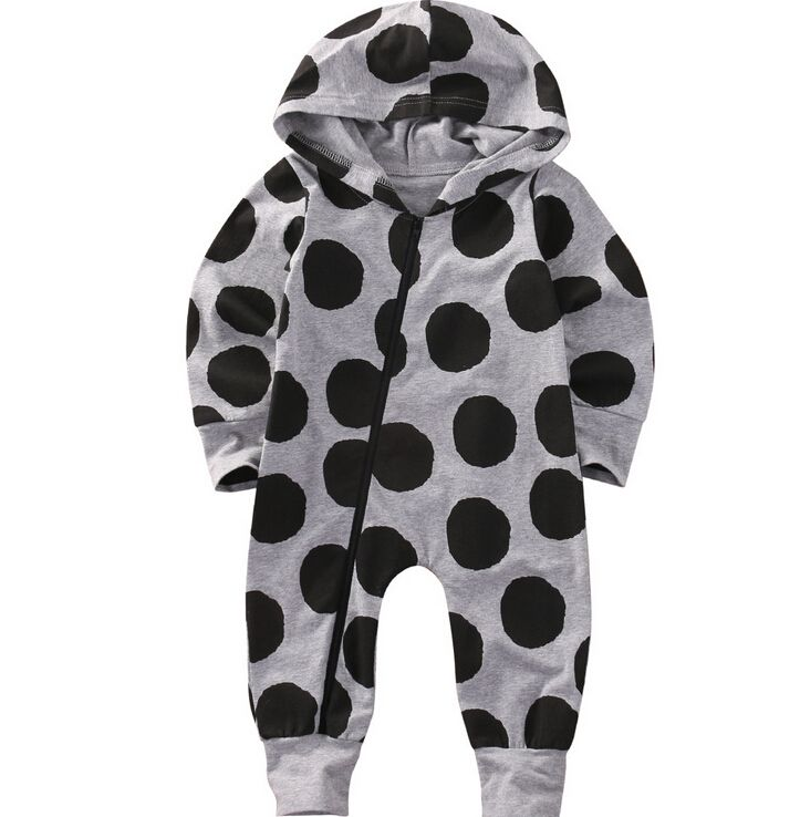 UK Newborn Baby Boy Girl Warm Romper Jumpsuit Hooded Bodysuit Kid Clothes Outfit