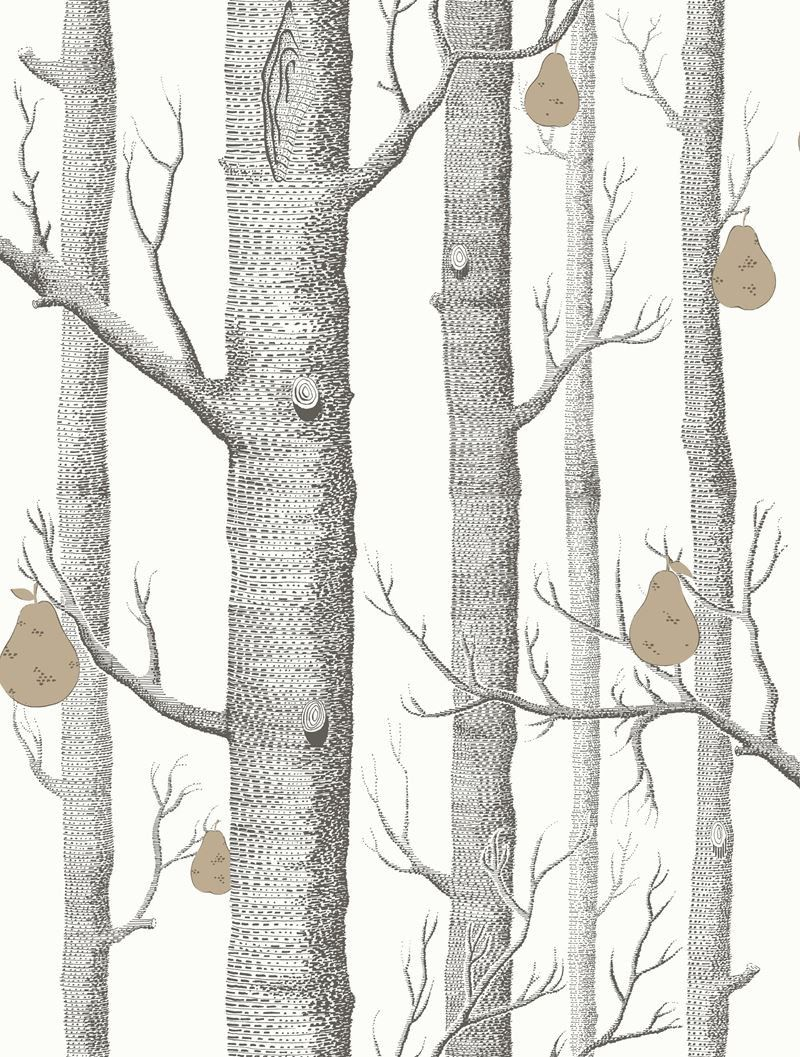 Cole Son Wallpaper 95 5027 Cs Woods Pears Blk Wht Brnz Cole