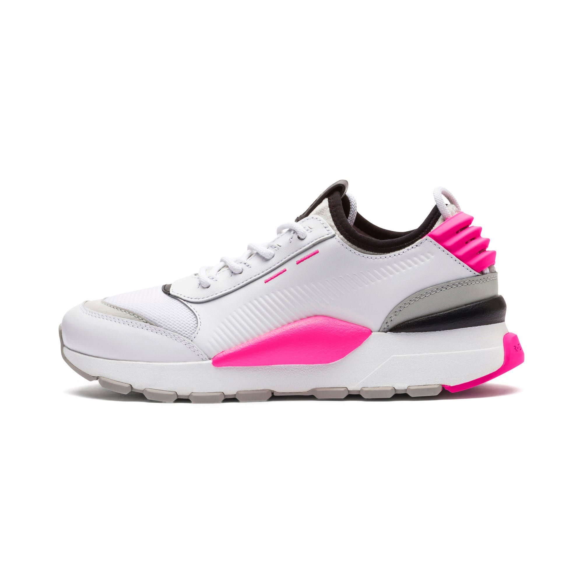 PUMA Chaussure Basket Thunder Leather, Blanc, Taille 44.5