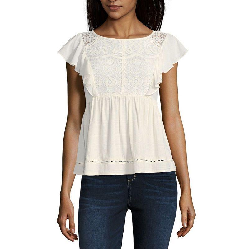 88efac878 Rewind Sleeveless Crew Neck T-Shirt-Womens Juniors   Products ...