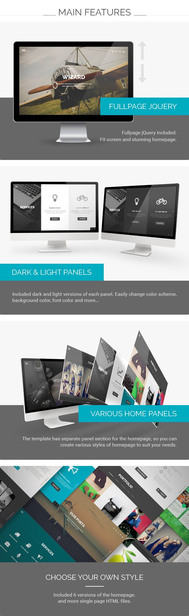 Wizard - Fullpage Portfolio HTML Template | Template