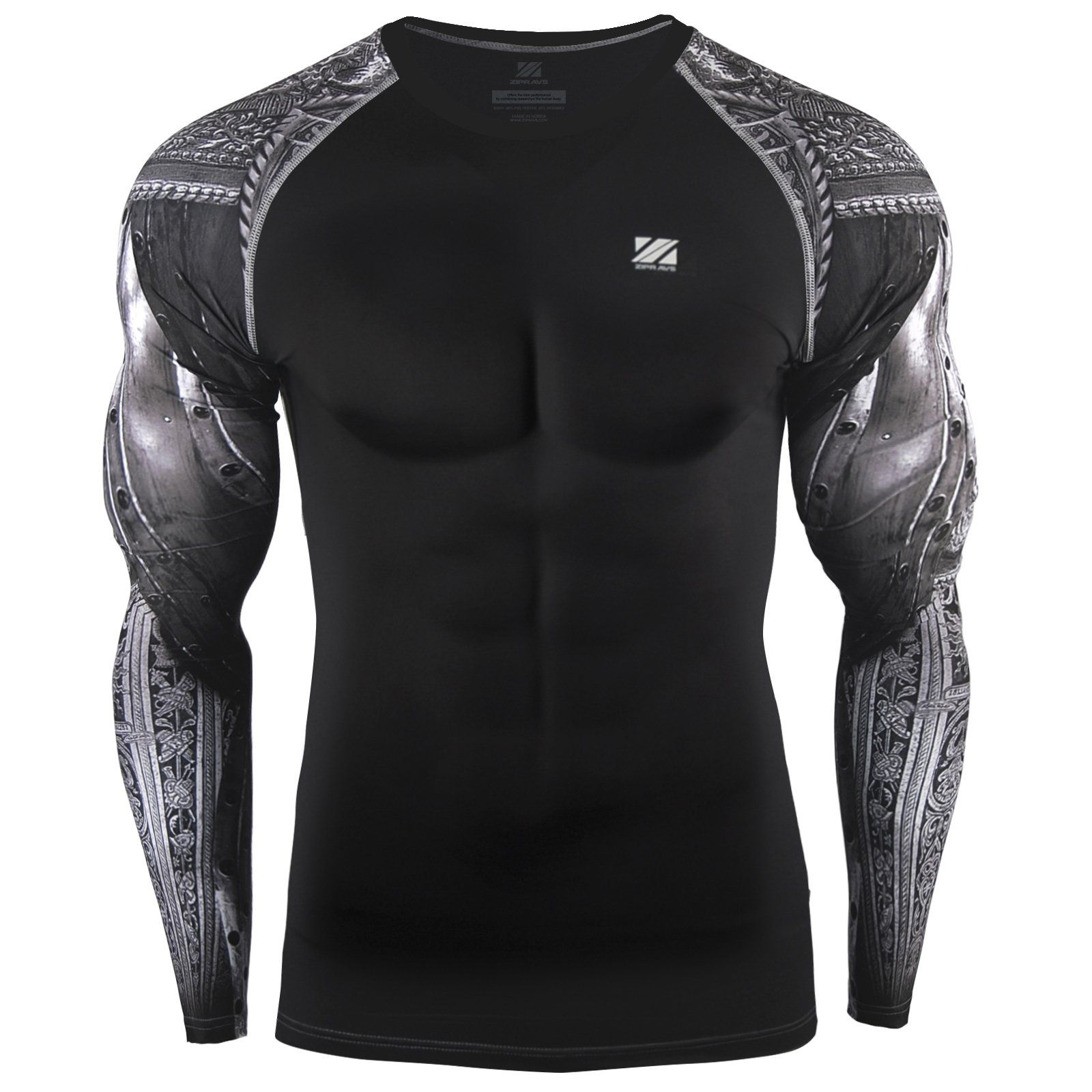 Active Running Training Fitness Workout Outdoor Sport Base Layer Tops Blouse Pullover Mens Long Sleeve Shirt