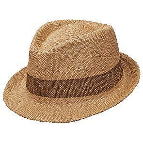 dea3e30818c95 Scala MS380 Tea Bangkok Toyo Straw Fedora Hat