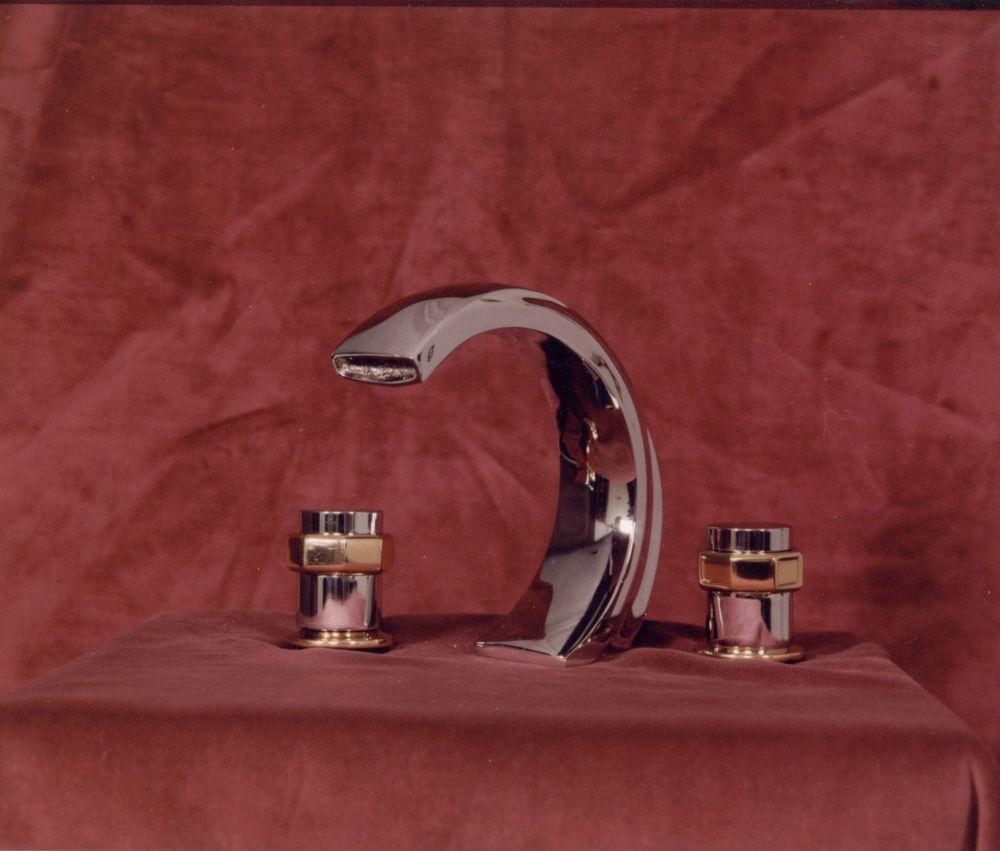 Bathtub Roman Style 5 Piece Faucet W Shower Head Polished