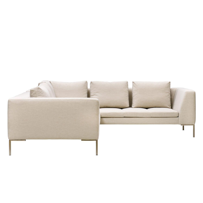 Ecksofa Madison II Webstoff 2 Sitzer davorstehend links 238 cm