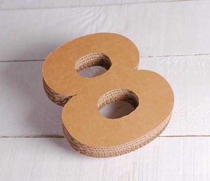 Números De Cartón Decorativos Cartón Cajas De Carton Manualidades Caja De Cartón