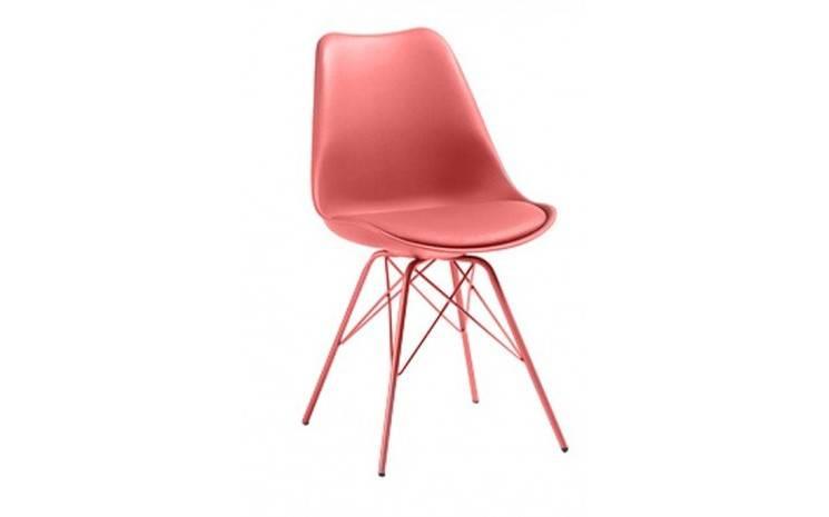 Chaise Scandinave Avec Pieds Eiffel Gala Rouge En 2020 Chaise Design Chaise Pied Metal Chaise Scandinave