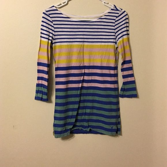 Striped top Top American Eagle Outfitters Tops Tees - Long Sleeve