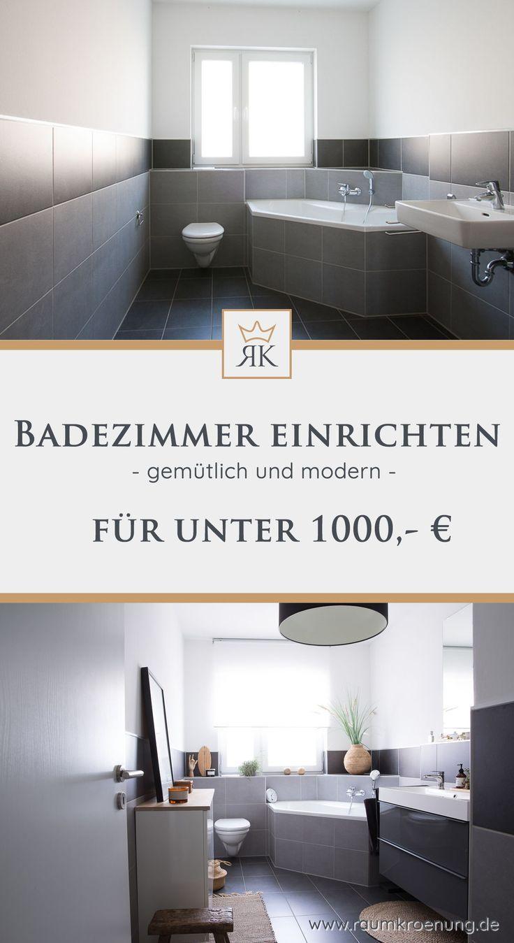 Badezimmer umgestalten unter 700€! Upcycling Ideen ...