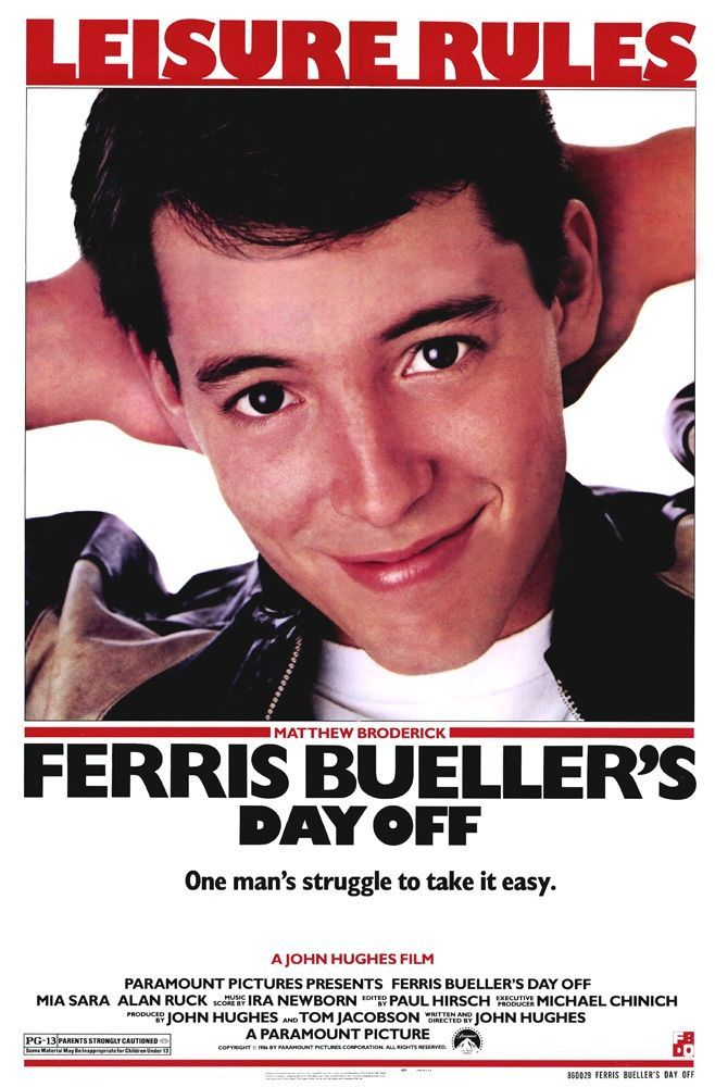 Ferris Buellers Day Off 1986 Comedy Films Great Movies Great