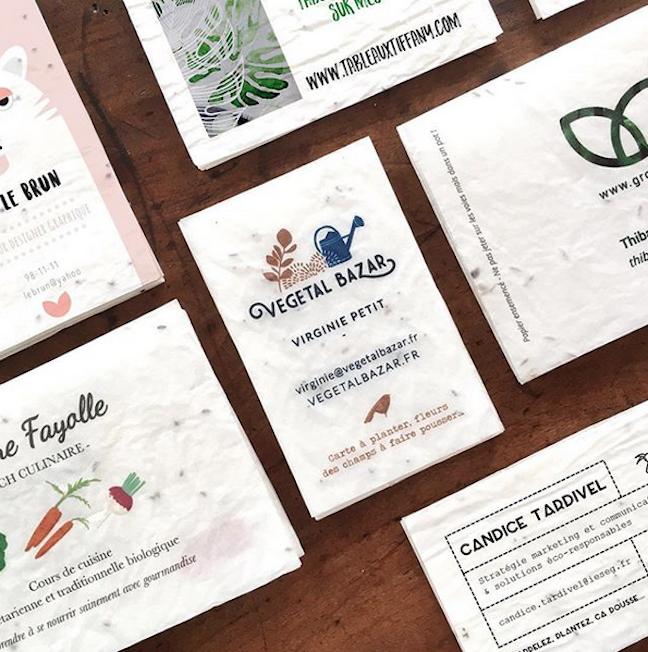 Les Cartes De Visite Ensemences Growing Paper