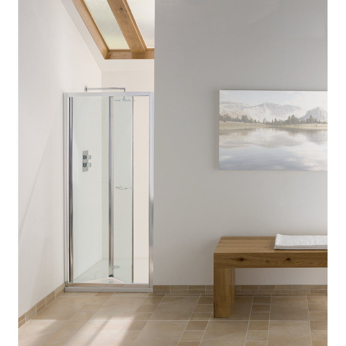 Signature Contract Bi Fold Shower Door 1830mm H X 1000mm W 6mm Glass Shower Doors