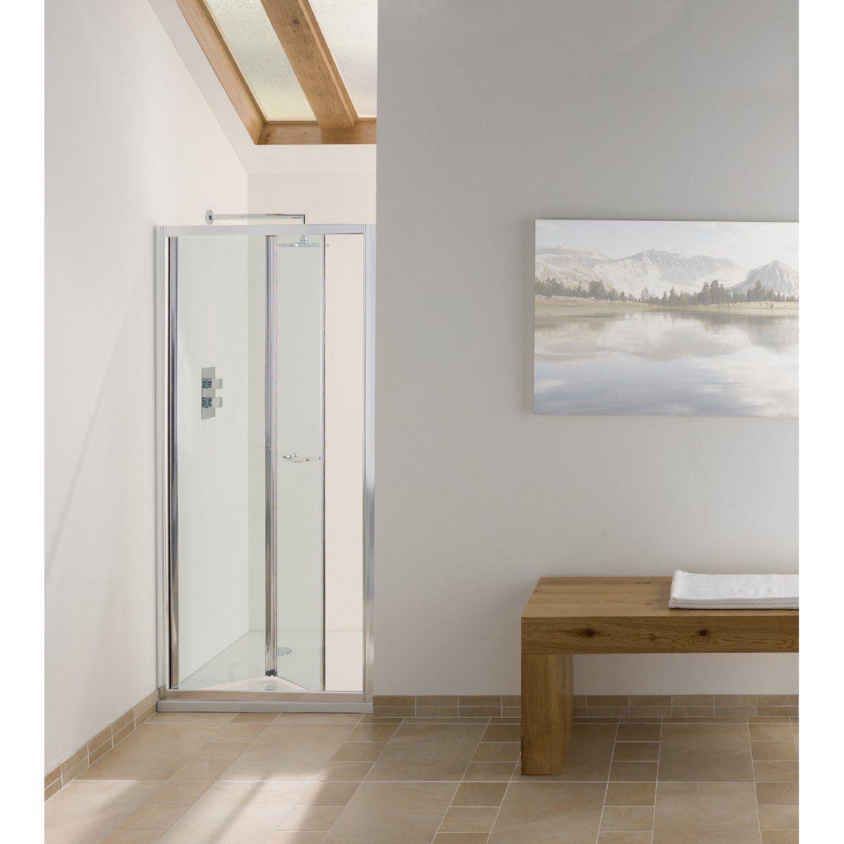 Signature Contract Bi Fold Shower Door 6cb080 800mm Silver Clear Shower Doors Bifold Shower Door Shower