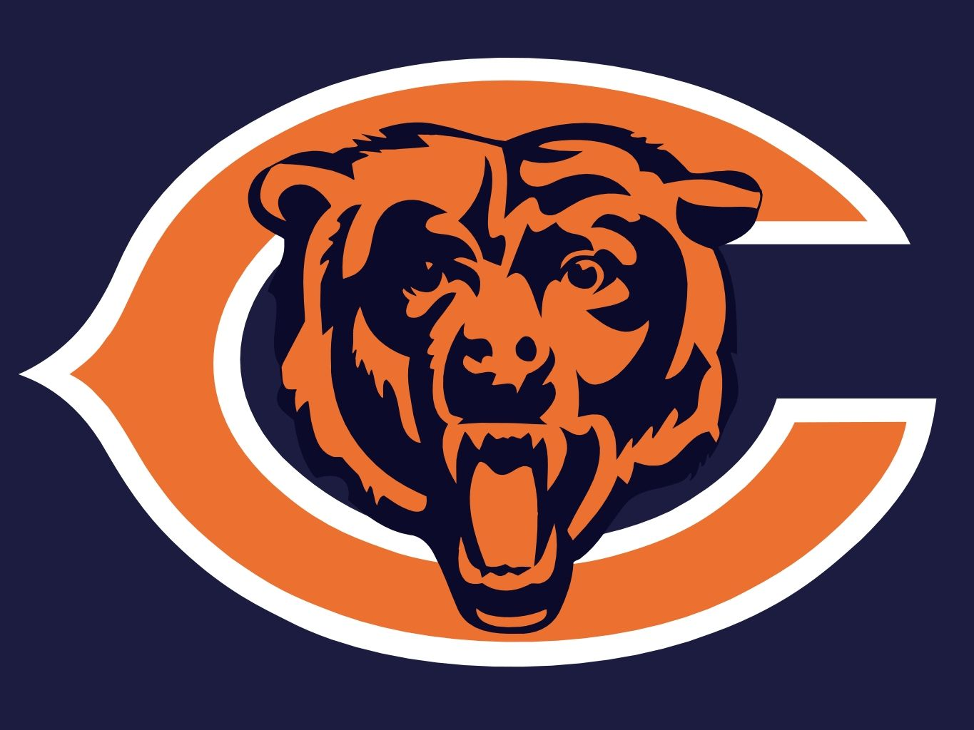 Chicago Bears Wall Art chicago bears http://www.hark/clips/ycfsbtynty-bear-down