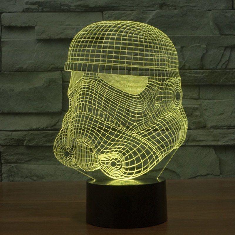 Star Wars Stormtrooper Hologram 3d Light Table Desk Led Lamp 7 Color Changing Engraving Night Light Home D Star Wars Night Light 3d Led Night Light 3d Led Lamp
