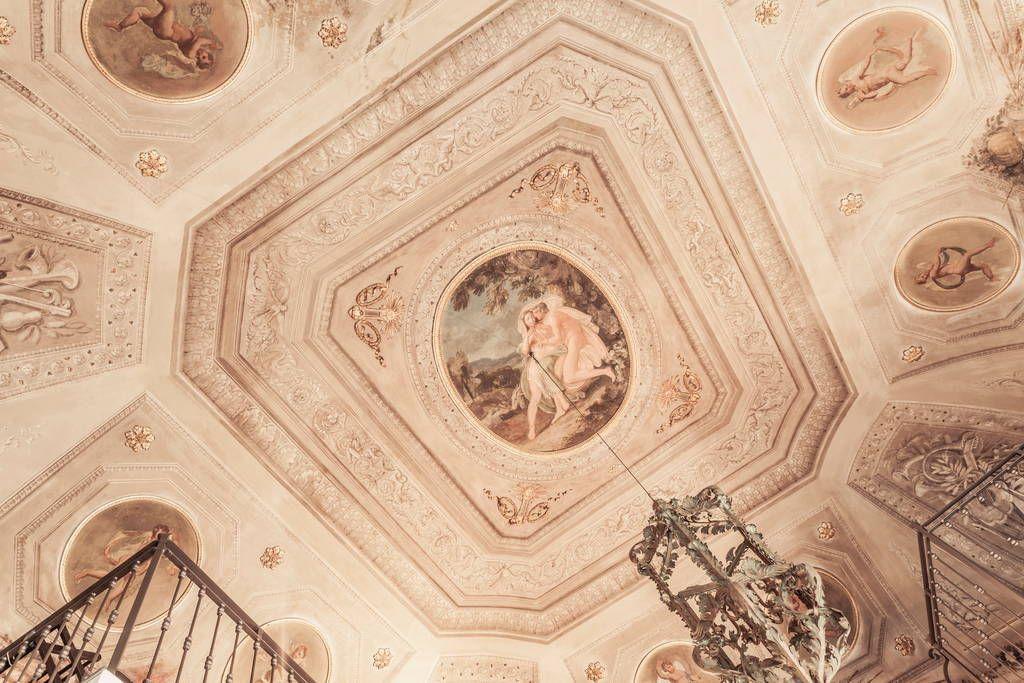 Soffitto A Volta Affrescato : Loft in bologna italy. abitare la storia in unantica sala da