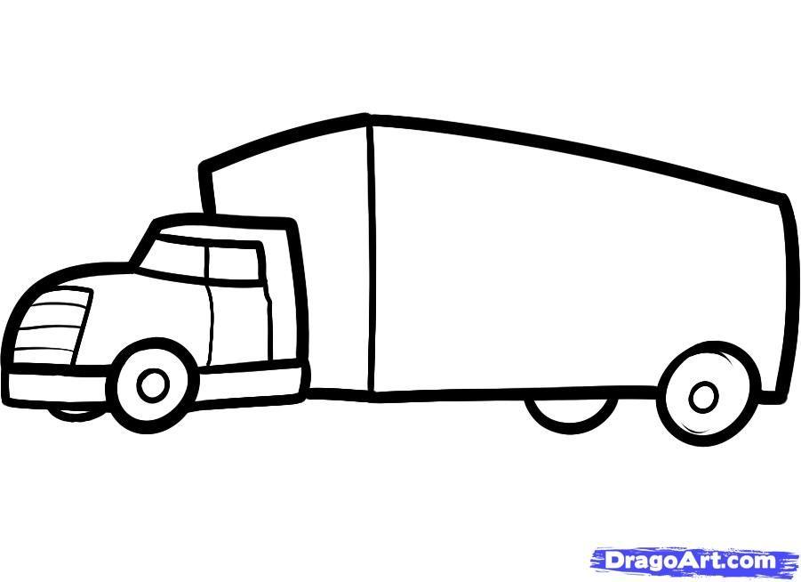 b4bf4080426a41471ada355c160e7ef5 » Kid Truck Drawing