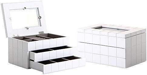 Lola Derek Caja Con Joyero Moderna Blanca De Madera Para