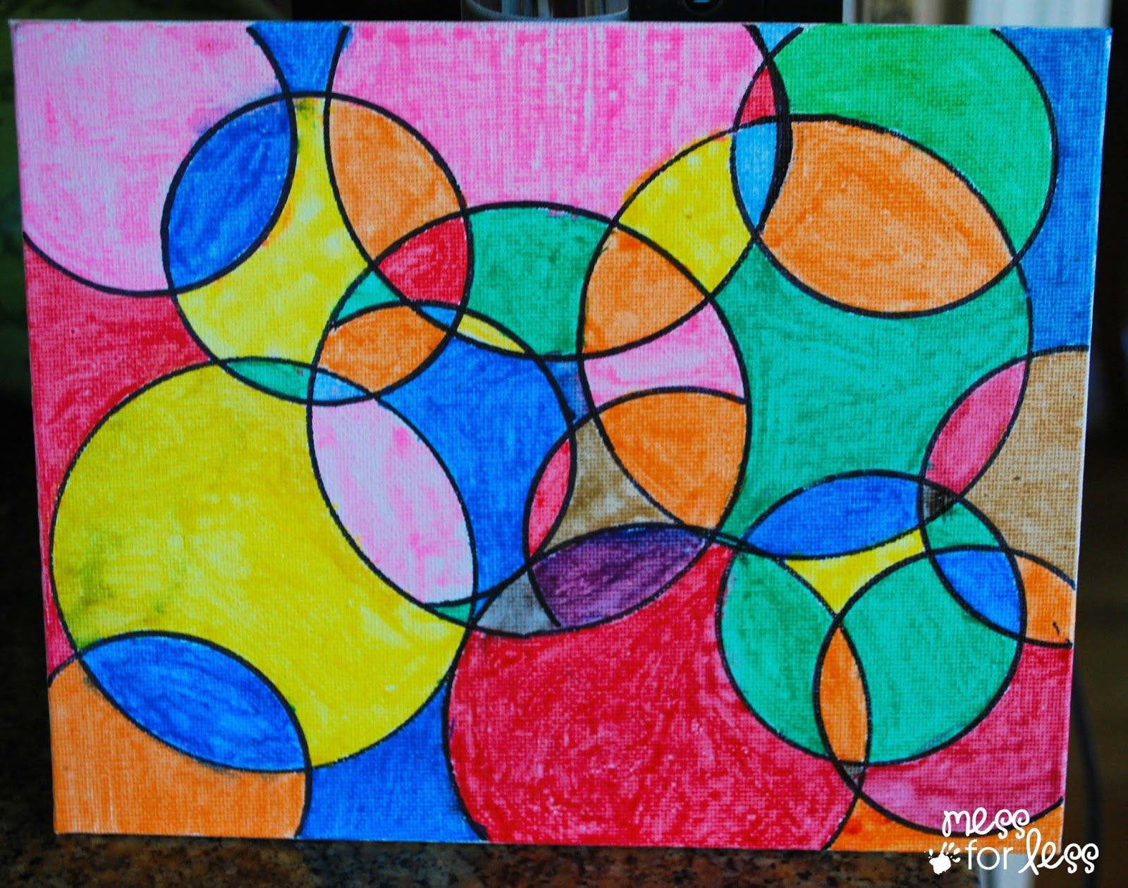Watercolor Circle Art