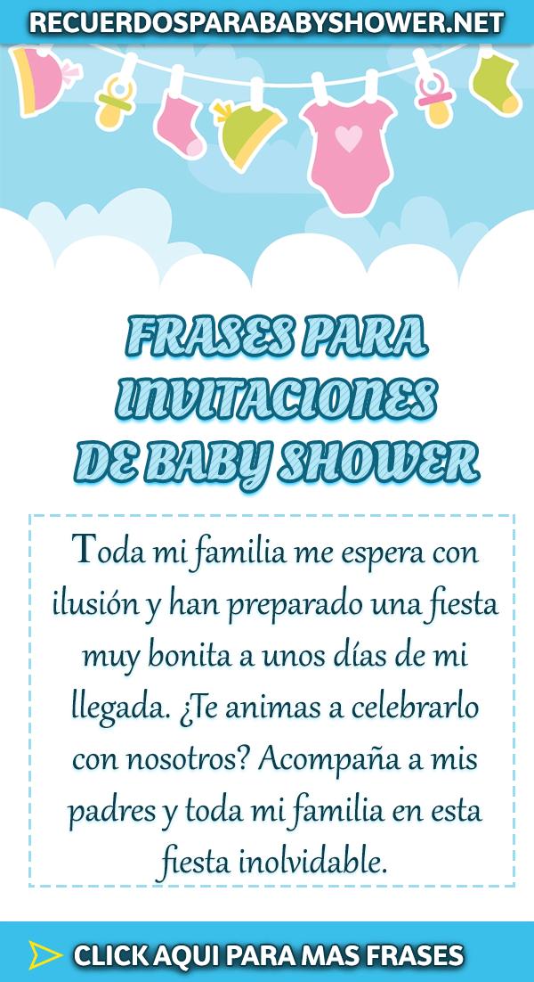 Frases Para Un Baby Shower De Nina : frases, shower, Mejores, FRASES, Shower, DISEÑO, Frases, Invitaciones,, Shower,, Tarjetas