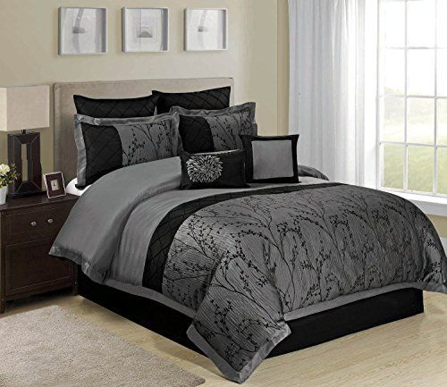 8 Piece Weistera Jacquard Tree Branches Pattern Comforter Sets
