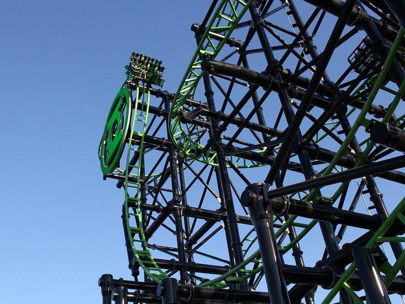 Crazy First Drop On Green Lantern Coaster Warner Bros Movie World