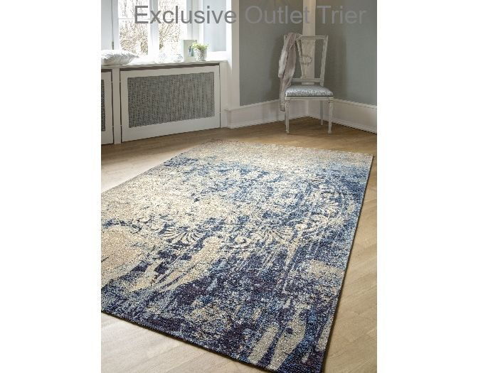 Teppich greco beige blau teppich vintageteppich vintage