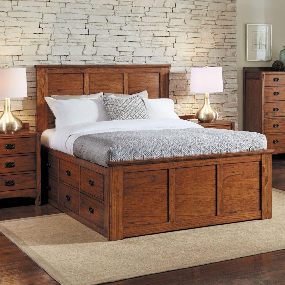 mission hills wood captain platform bed in harvesta-america
