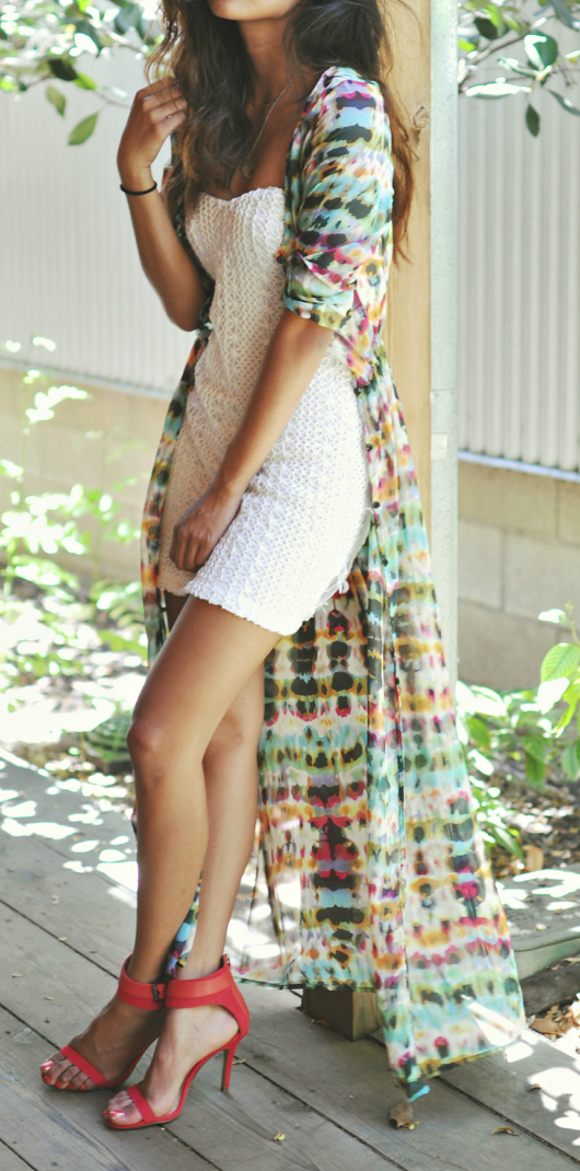 Boho maxi cardigan kimono dress | Dress skirt, Short white dresses ...