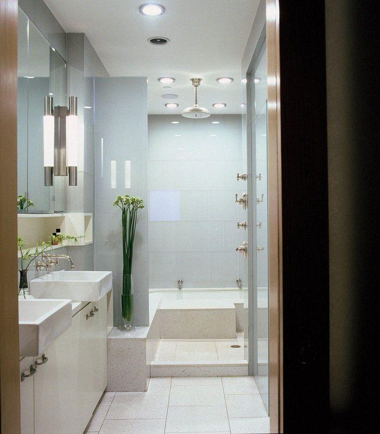 28 idées d\'aménagement salle de bain petite surface | Aménagement ...