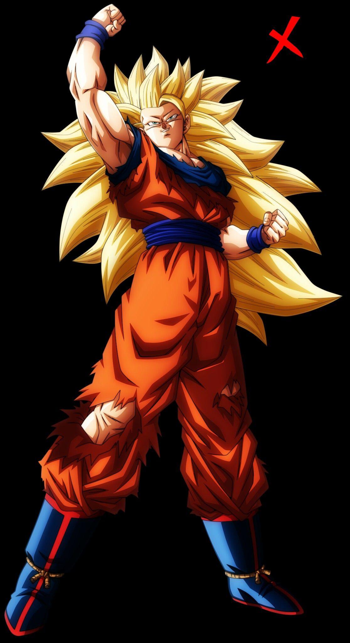 Goku super sayajin 3 de nekoar dragon ball pinterest - Son goku vegeta ...