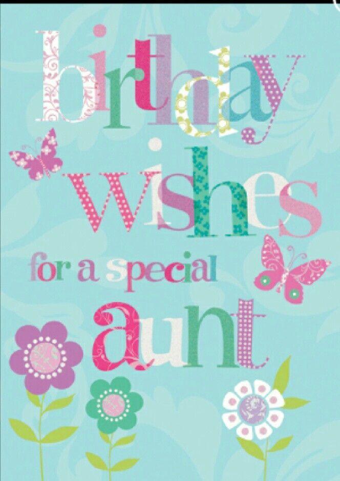 Happy Birthday Aunt Felicitatie Familie Pinterest