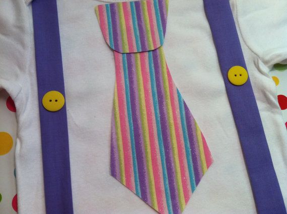 Boy's Easter Shirt and Tie with Suspendors by BetterThanBows, $19.99